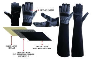 V-Pro Non Leather Animal Handling Glove