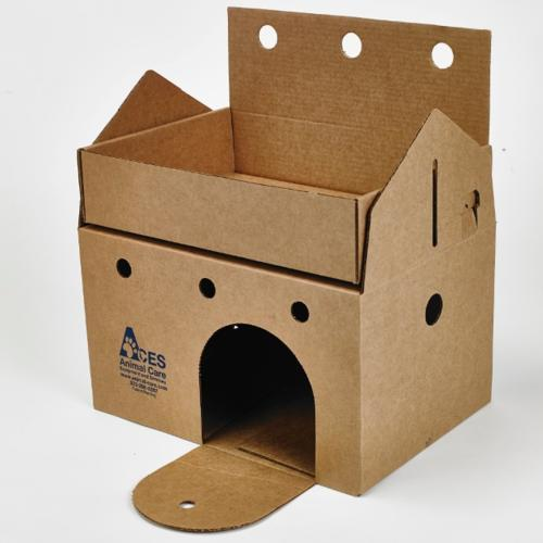 Cat Castle includes turret and punch out front door